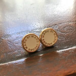 Marc by Marc Jacobs Logo Disk Cream&Gold Earrings